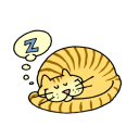 clip art sleeping cat 026
