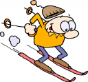 clipart of men skiing