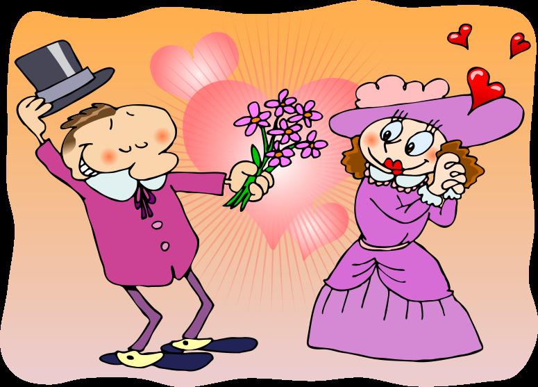 Be Polite Clipart A victorian couple, a polite